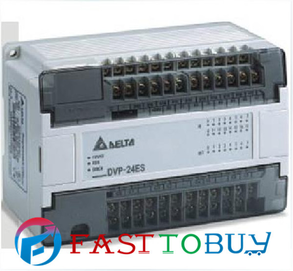 Delta PLC ES series DVP24ES00T2 24-point 16DI-8DO (NPN transistor) AC power New dvp16sp11t delta s series plc digital module di 8 do 8 transistor npn new in box