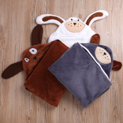 Newborn Infant Baby Boys Girls Warm Hot Sale Hooded Animal Sleepwear Blanket Bathrobe Romper Clothes 3 Colors