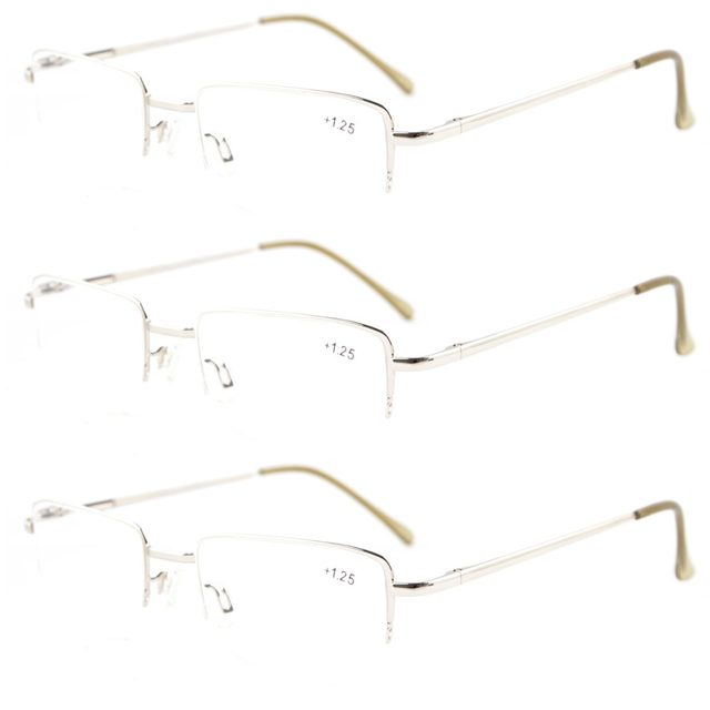 6554edc42d2 HR16011 Mix Eyekepper 3-pack Readers Spring Hinges Half-rim Reading Glasses +0.5 0.75 1.0 1.25 1.5 1.75 2.0 2.25 2.5 2.75 3 3.5 4
