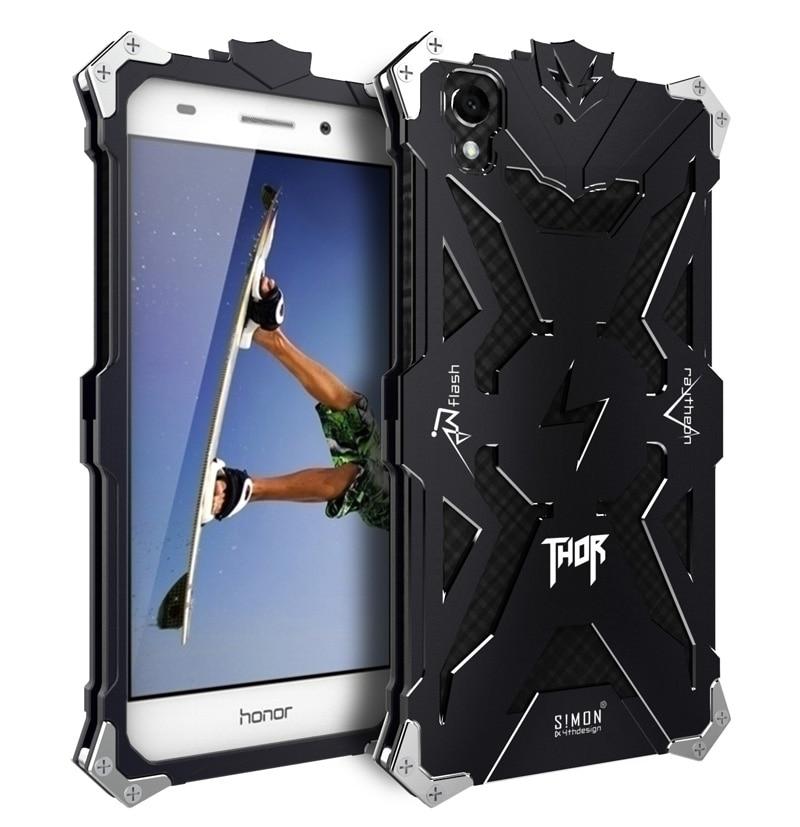 imágenes para Marca Thor Heavy Duty Armadura del Metal De Aluminio de Lujo Bolso Del Teléfono Móvil para HUAWEI Honor 5A 8 Casos de la Cubierta Para HUAWEI Honor 8 honor8