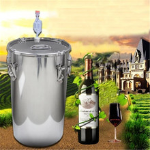 XMT-HOME hydraulic seals water sealed fermentation bucket 304 stainless steel fermenter brewing alcohol wine fermented 11L 1pc