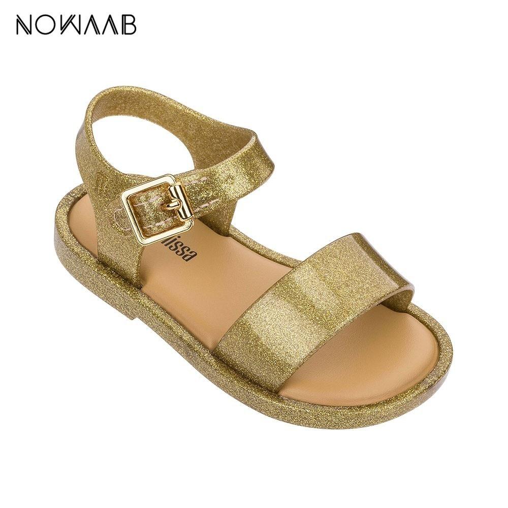Mini Melissa Mar Sandal IV 2019 New Kids Sandals Girls Shoes Girl Sandals Kids Beach Sandals Breathable Melissa Children Shoes