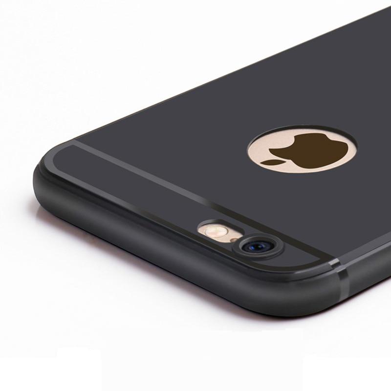 imágenes para 50 unids/lote phone case para iphone 7 6 s plus 6 ultra fino suave mate tpu funda de silicona para apple iphone7 7 plus 6 back case cubierta