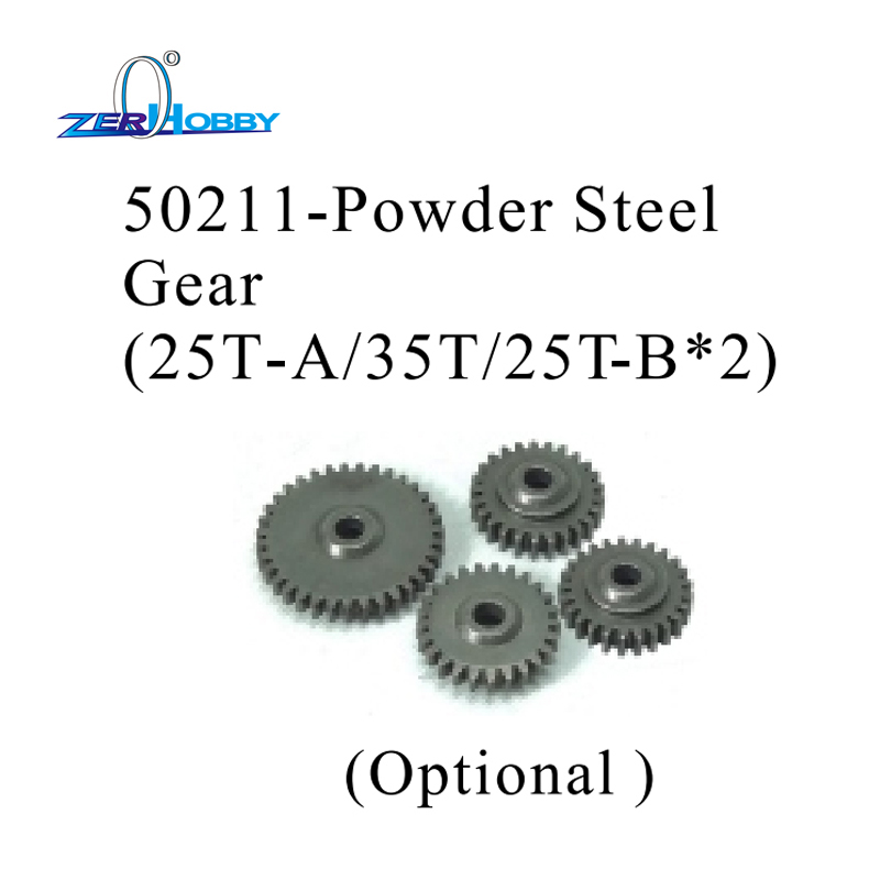 HSP RACING SPARE PARTS ACCESSORIES 50211 POWDER STEEL GEAR 25T-A 35T 25T-B FOR HSP SKELETON 1/5 GAS TRUCK 94050
