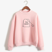 Style female autumn and winter casual letter printing new pullover flower O-neck full sweatshirt cute kawaii style