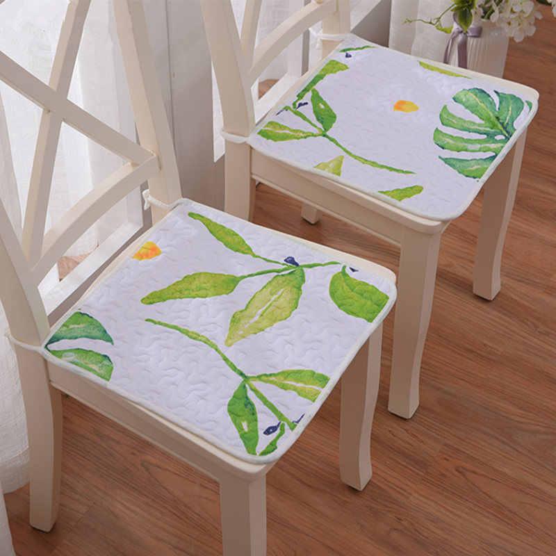 2 pçs/set Almofada Barato Fácil de Dobrar & Carry Quadrado Cadeira Almofada de Algodão Super Macio Assento Pat Para O Escritório de Jantar Home 40x40 CM
