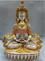 Nepal gilt silver plated copper statue ornaments Jin Changshou high 20 cm