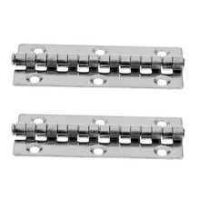 2 Pieces Stainless Steel Universal Marine Boat Yacht Piano Hinge Deck Hatch Cabinet Accessories Strong corrosion resistance