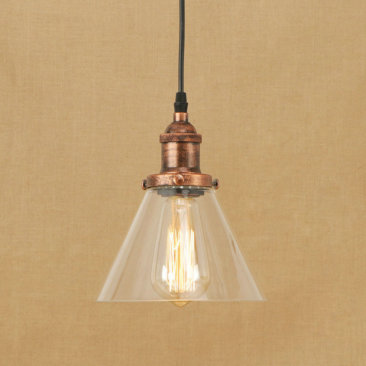 IWHD Glass Suspended Lamp Vintage Industrial Lighting Pendant Light Loft Style Kitchen Bedroom LED Pendant Lights Iluminacion new loft vintage iron pendant light industrial lighting glass guard design bar cafe restaurant cage pendant lamp hanging lights