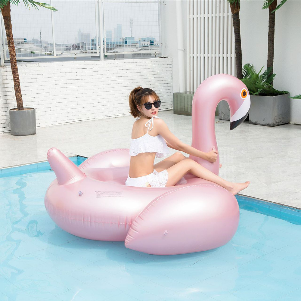 192*180cm Rose Gold Inflatable Flamingo pool Float Tube Adult Giant swimming Swimming Ring Pool Toys float
