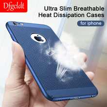 Ultra Slim Phone Case for iPhone X XR XS Max Breathable Heat Dissipation Cases Hard PC Back Cover Coque 6 6s 7 8 Plus