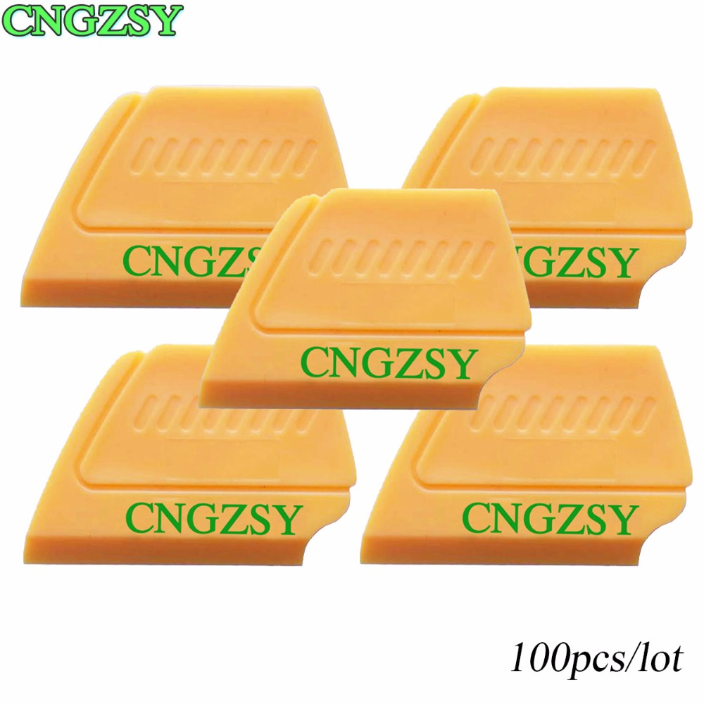 100pcs Multifunction Mini Squeegee Home Car Dirty Cleaning Scraper Protector Sticker Vinyl Film Wrap Install Tool CNGZSY 100A14