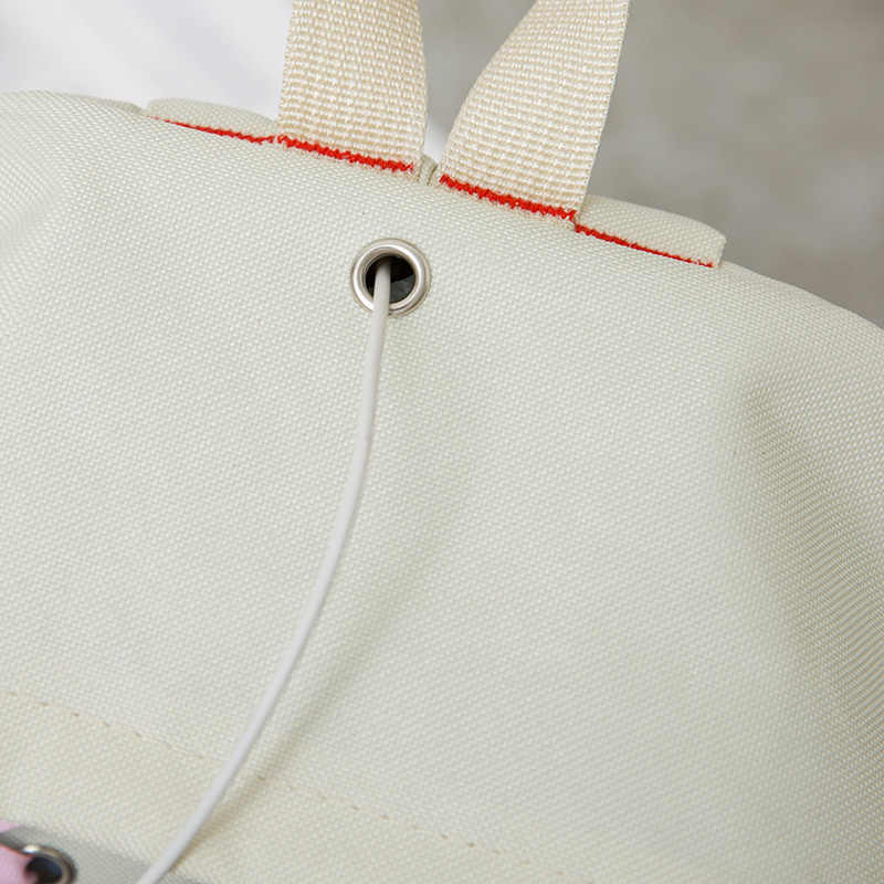 4 шт./компл. ленточная цепь бант письмо Mochila холщовый рюкзак дорожный Рюкзаки для отдыха для девочек-подростков школьный рюкзак