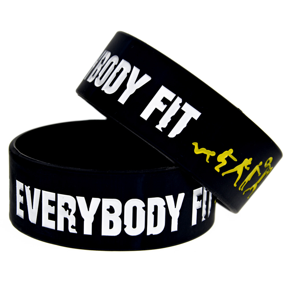 OBH 1PC Everybody Fit No Pain No Gain Motivational Silicone βραχιόλι