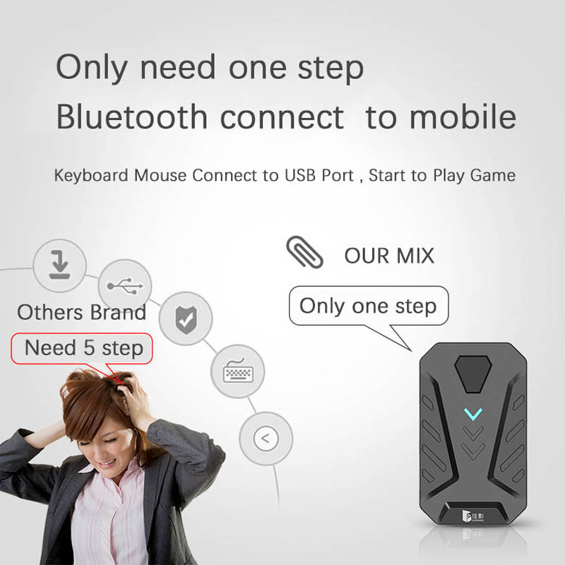 Image 4 - PUBG Game Converter MIX Keyboard Mouse Converter Bluetooth Station Stand Docking for iphone android Gamepad Joystick Controller-in Gamepads from Consumer Electronics