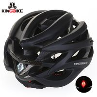 BATFOX Bicycle Helmets 56 62cm Black EPS PC Light Helmet Cascos Ciclismo Mountain Road Mtb Integrally