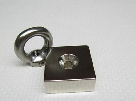 50*50*25 2pcs block hole magnet 50 mm x 50 mm x 25 mm powerful craft neodymium magnets rare earth permanent strong N52 n52 лента oem 25 2 50 25 2 50