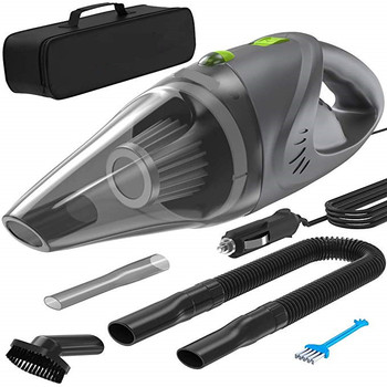 Car Vacuum Cleaner with Washable Steel Filter