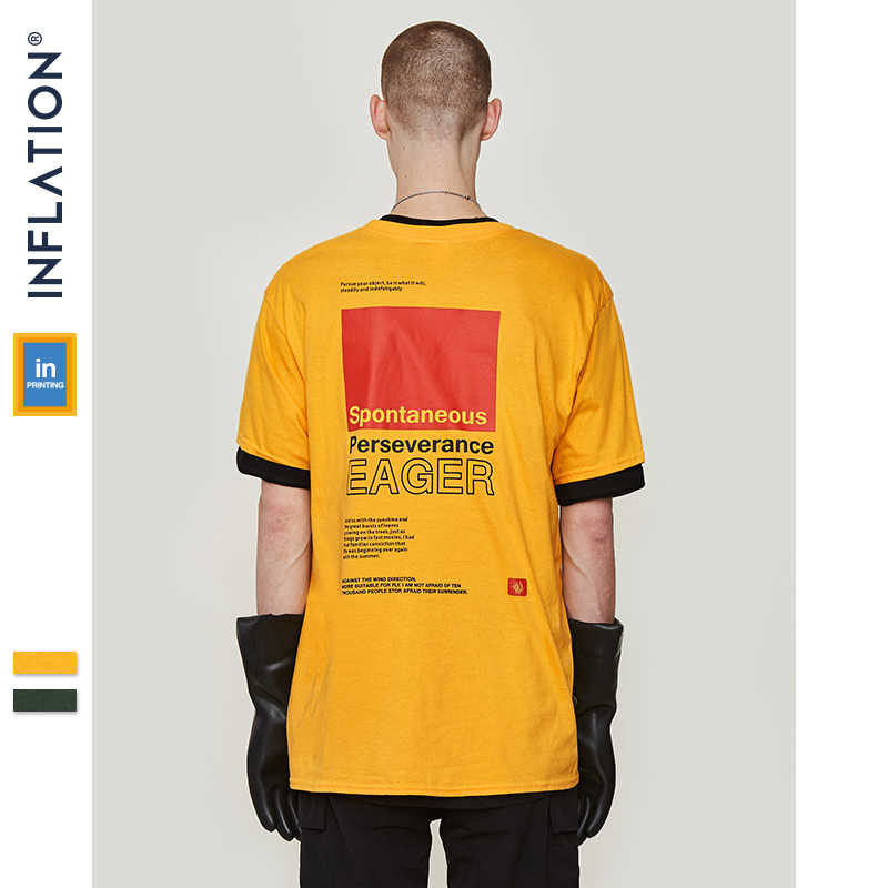 04b49c69d ... INFLATION Creative printed tee mens t-shirt short sleeve tops & tees  2019 ss new ...