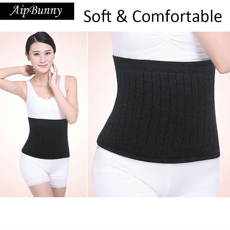 AipBunny Women Men Cashmere Wool Comfortable Bodybuilding Waist Support Warmer Fitness Belts Waist Brace Guard Protector