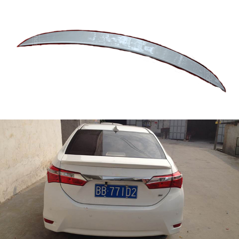 Car Styling Rear Trunk Spoilers For Toyota Corolla 2013+ 2014 2015 ABS Without The Paint Car Spoiler Auto Decoration Accessories car rear trunk security shield cargo cover for volkswagen vw tiguan 2016 2017 2018 high qualit black beige auto accessories