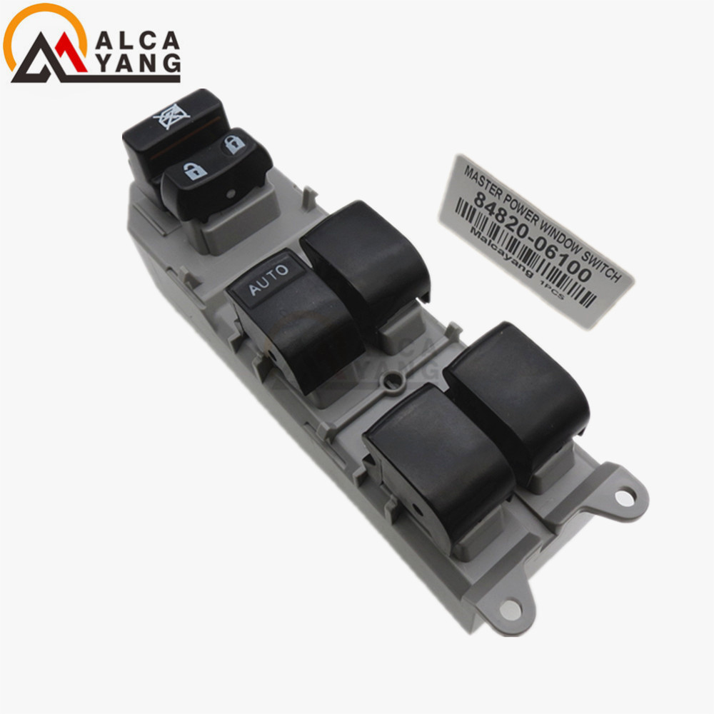 Front Left Driver Side Power Electric Window Master Control Switch Button 84820 06100 For Toyota Corolla