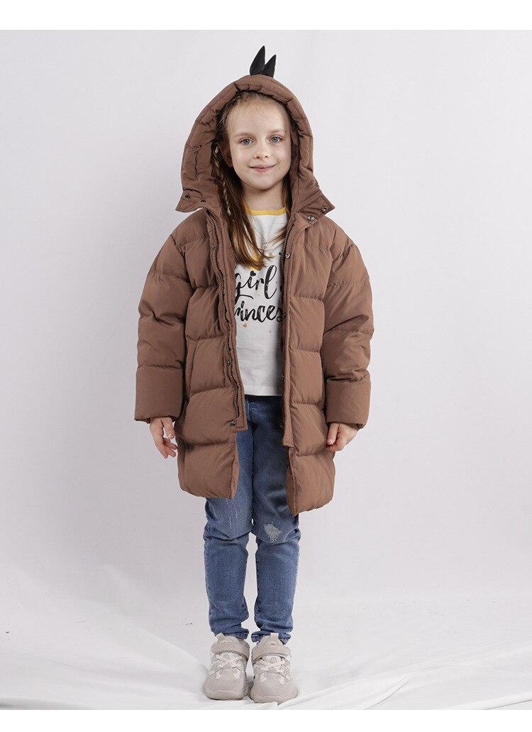 Style européen et américain hiver enfants vêtements super chaud épais mignon petit dinosaure style vers le bas veste d'extérieur pour les garçons - 2
