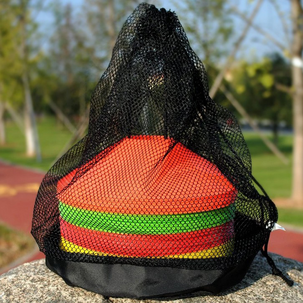 Outdoor Sports Nylon Football Field Markers Carry Bag With Drawstring Soccer Sport Training Team Sports Accessories