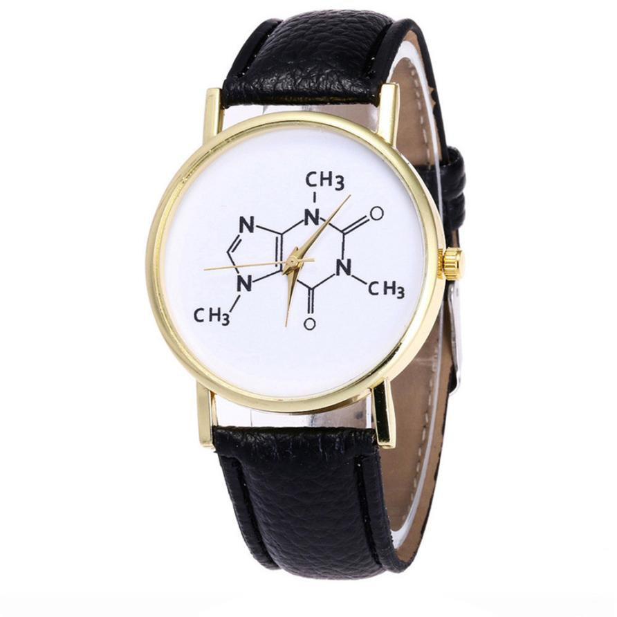 Man Watch Fashion Chemistry Candy Color Clock Leather Band Unisex Wrist Watch Casual Relogio Masculino