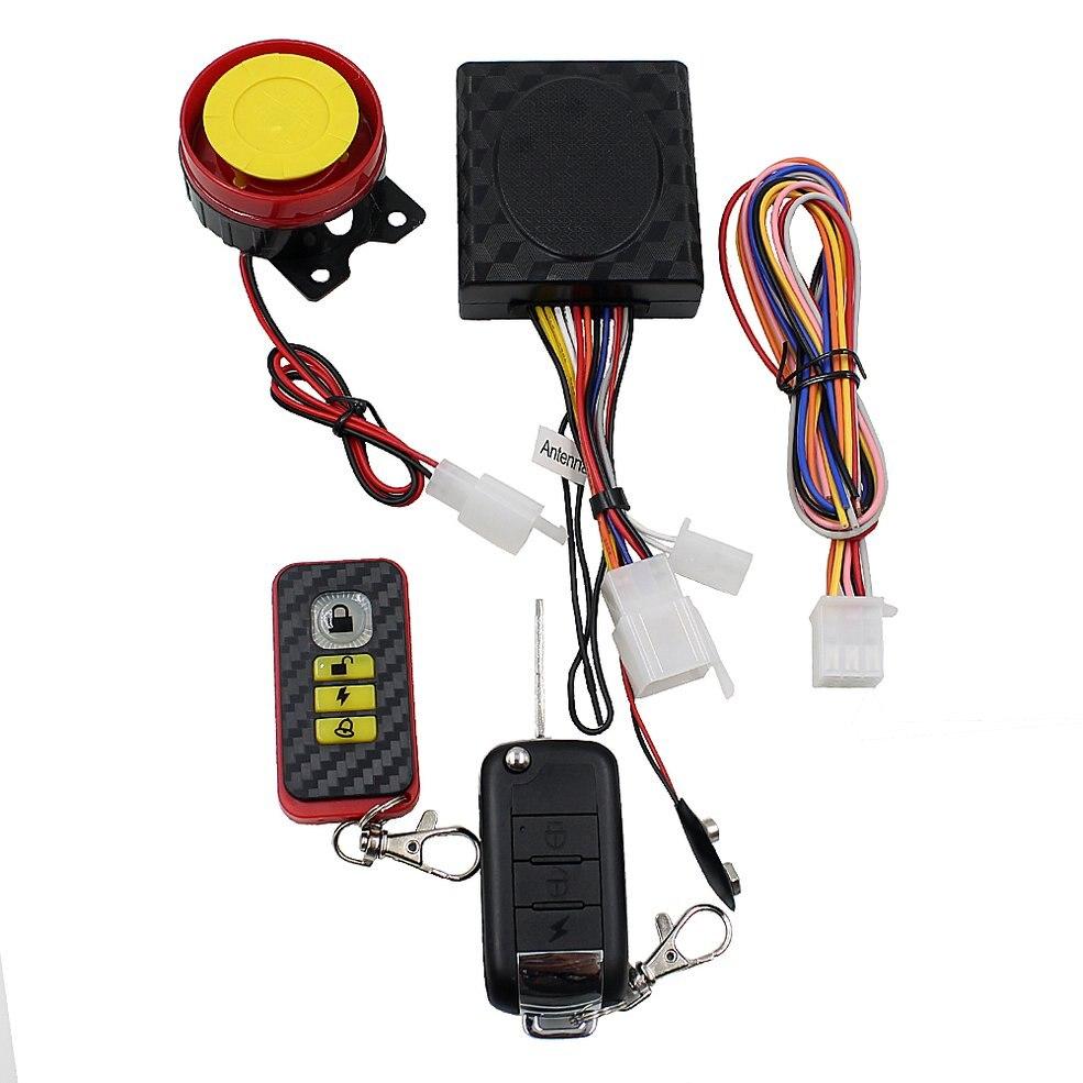 Anti-hijacking Waterproof Motorcycle Security Alarm/one Way Motorcycle Alarm System 12V  System Alarm