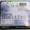 Preenchendo uma prescrição 1.74 asférica superthin HC HMC CR-39 lentes de resina óculos de grau para correção de miopia/hipermetropia/presbiopia