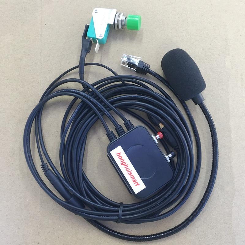 Honghuismart Handsfree Microphone Speaker 6 Pins For Yaesu FT1807 FT1900 FT7800R,FT7900R,FT8800R,FT8900R FT2800 Etc Car Radios