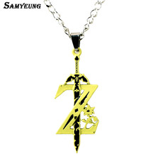 Samyeung Anime Link Chain Sword Zelda Necklaces for Best Friends Necklace Male Necklace Neckless Women Colar Zelda Accessories