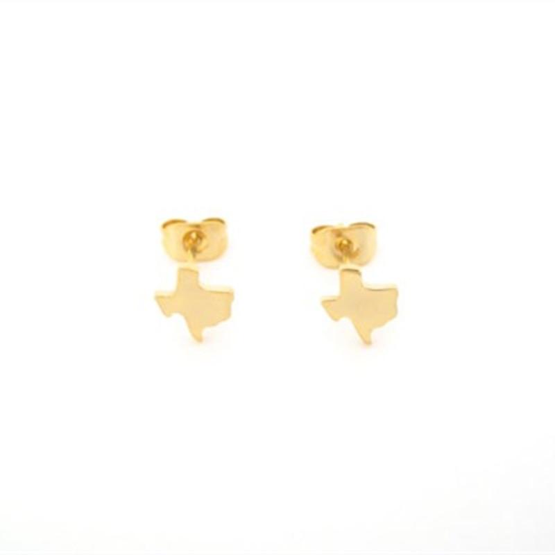 State Jewelry Tiny Texas Stud Earrings