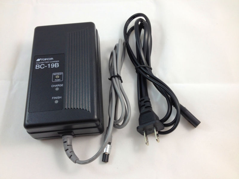 NEW TOPCON BC-19B charger for TOPCON TOTAL STATIONS BT-32Q 2 PIN Battery