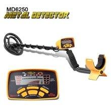 металлоискатель подземный MD6250 детектор проводки пинпоинтер производительность сокровище подземных Hunter все металлические Gold металоискатель MD6150 metal-detector