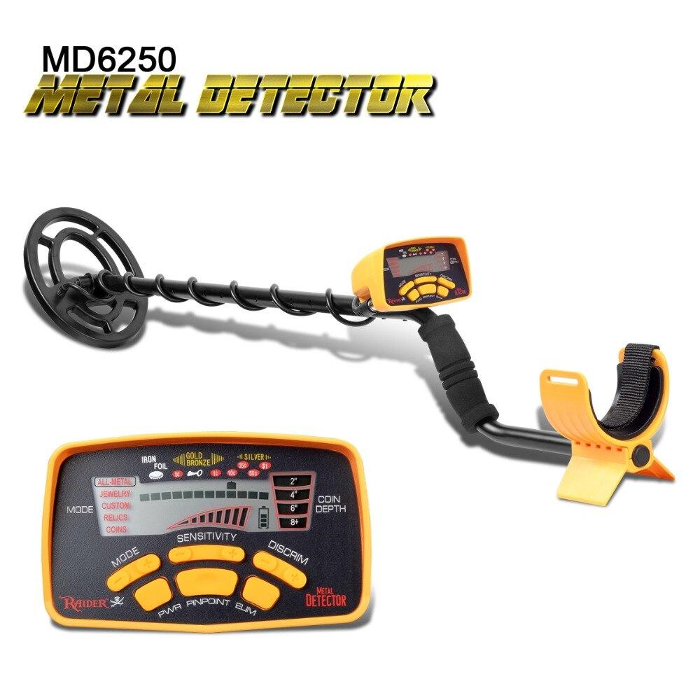 Profissional MD6250 Metro Metal Detector Gold Digger Treasure Hunter Todos Os Metais de Alto Desempenho Moedas de Detecção de Metais Pinpointer