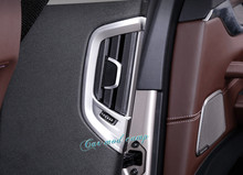 Для BMW 5 серии G30 2017 2018 ABS Матовый интерьера заднего ряда боковой Air Vent Выход Обложка отделка 2 шт. автомобиля Стиль Аксессуары!