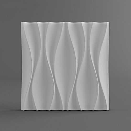 פלסטיק תבניות צורות 3D דקורטיבי קיר שונה עיצוב פנלים גודל 500x500x40mm