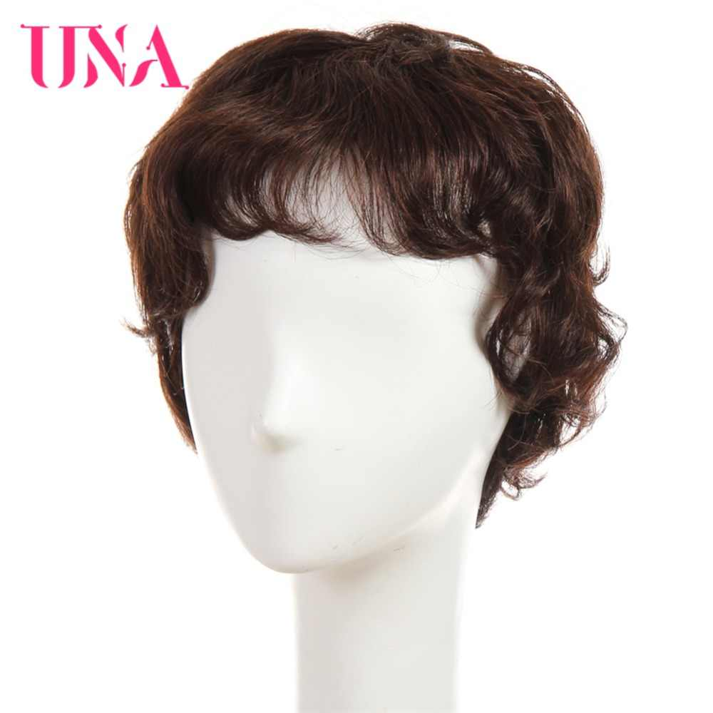 UNA Non-Remy Brazilian Human Hair Wigs For Women Fantasy Wave 150% Density Color #2/33 #1 #1B #2 #4 #27 #30 #33 #99J #BUG #350