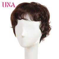 UNA Human Hair Wigs For Women Non Remy Human Hair 150% Density Natural Wave Short Brazilian Wigs Non Remy Brazilian Hair Wigs
