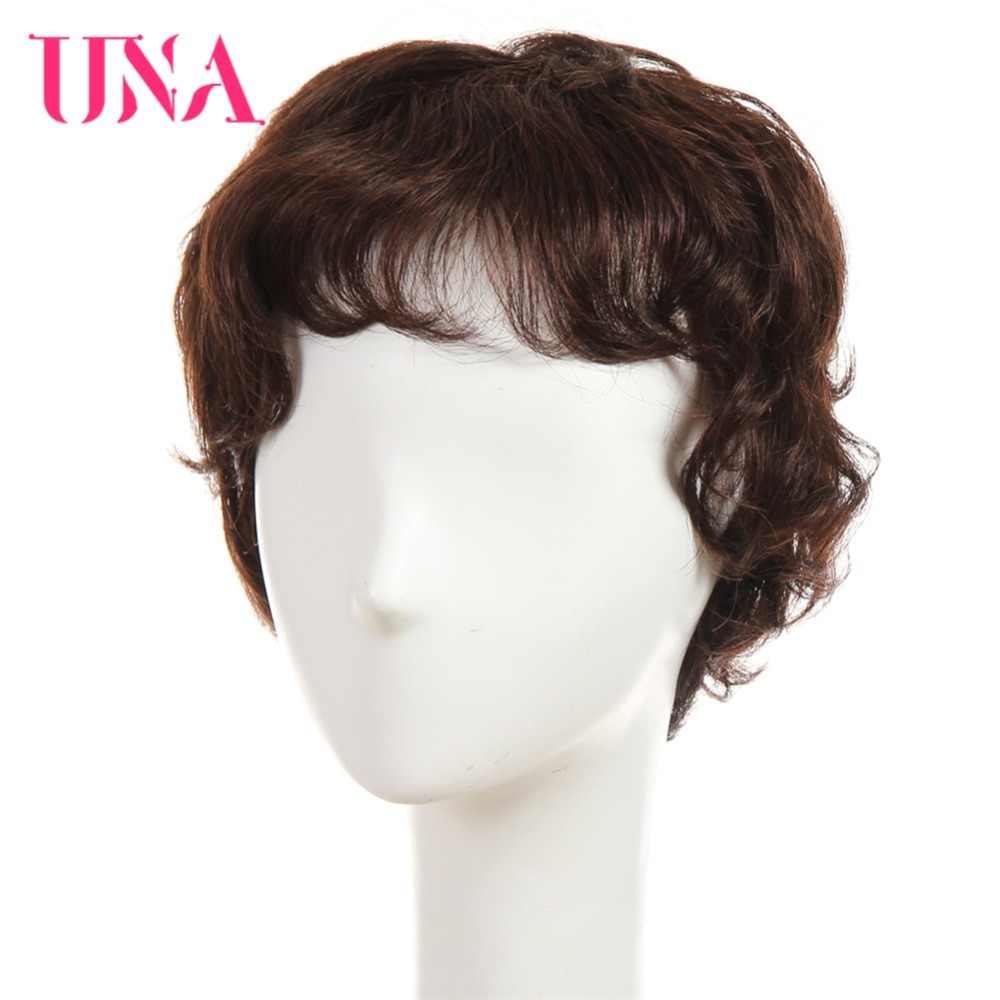 Una não remy perucas de cabelo humano brasileiro para mulher fantasia onda 150% densidade cor #2/33 #1 # 1b #2 #4 #27 #30 #33 # 99j # bug #350