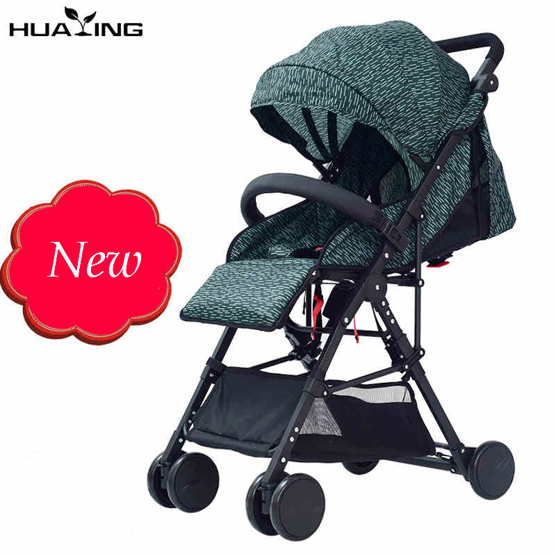 Lightweight Baby stroller 3 in 1 portable folding high landscape aluminium alloy frame children umbrella cart newborn carriage folding baby stroller lightweight baby prams for newborns high landscape portable baby carriage sitting lying 2 in 1