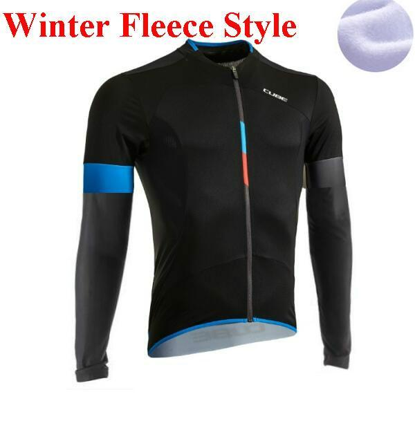 Cube ropa ciclismo maillot pro winter clothes cycling clothing long sleeve shirts maglia ciclismo manga longa Fleece 2017
