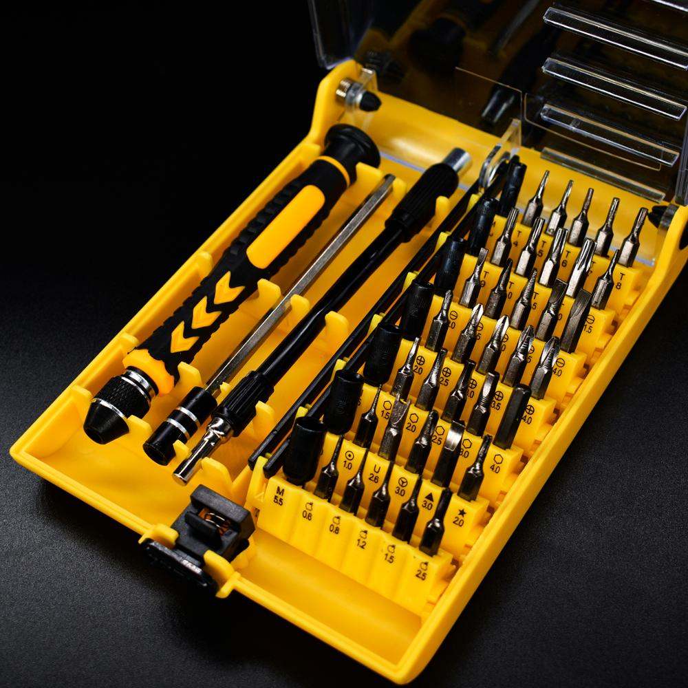 45 In 1 Multi-function combination screwdriver set Chrome vanadium steel precision notebook/mobile phone/watch repair tool