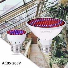 E27 Full Spectrum Led Lamp Grow Light For Plant 220V LED FitoLamp Greenhouse Indoor Light 110V Hydroponics Garden Grow Tent Box