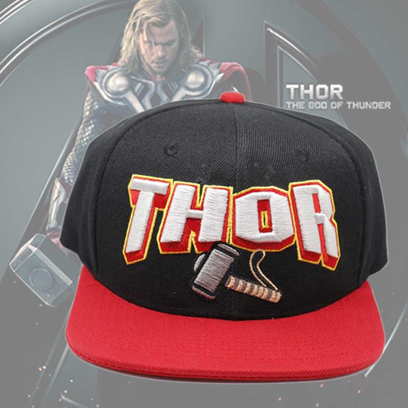 a950af88ac5 Marvel Super Hero Thor Cap Adjustable Mens Fashion Snapback Hip Hop Caps  Customized Baseball Hat for