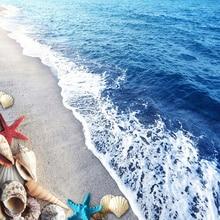 Custom Floor Wallpaper 3D Beach Sand Shells