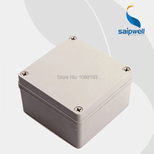 125*125*75mm  4.92″*4.92″*2.95″ IP66 ABS Waterproof Square Cable Box   DS-AG-1212-S