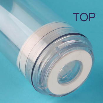 10-Inch Reusable Empty Clear Cartridge Water Filter Housing Various Media Refillable